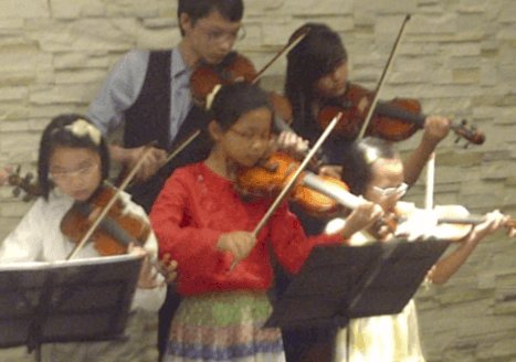 violin lesson performance kids singapore